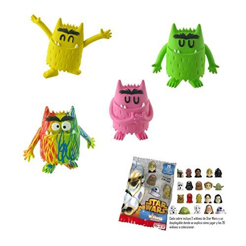 Lote 4 Figuras Comansi Monstruo de Colores - Alegría - Amor - Calma - Multicolor + Regalo
