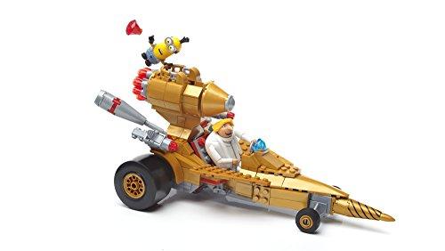 Mega Bloks-FDX84 Minions Disney Veh&ampiacuteculo transformable de DRU, Multicolor (Mattel FDX84)