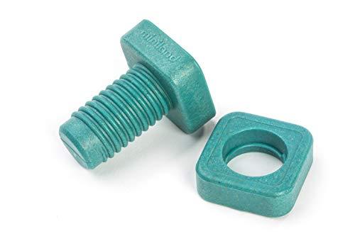 Miniland- Eco Nuts&Bolts-Tornillos y Tuercas Juego para niños de enroscar con Materiales sostenibles (32152)