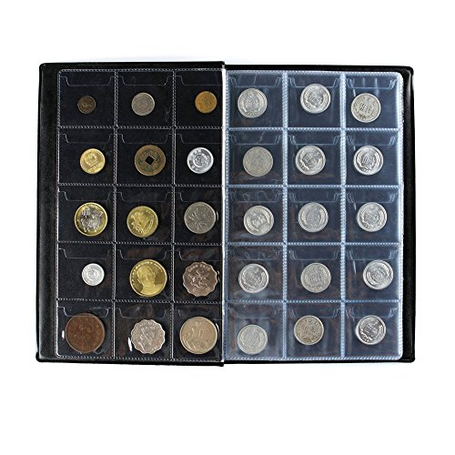 MULOVE 150 Pockets Coin Collectors Album, Coin Collection Holder Book Suitable for Coin Diameter Less Than 1.65 Inches Storage,Blue