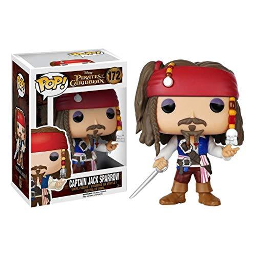 MXD Figuras Pop Piratas del Caribe Vinilo: Figura de acción capitán Jack Sparrow de Colección de la muñeca de los Ornamentos, Multicolor 10cm