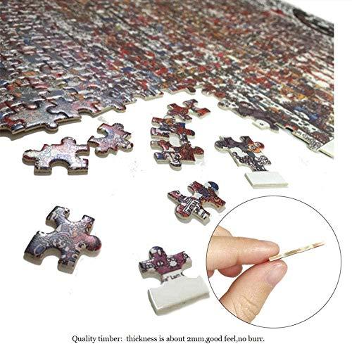 nobrand Puzzle 1000 Piezas Adultos Rompecabezas para Adultos De 1000 Piezas, Mapa Mundial, Mapa del Tesoro Brain Challenge Juegos De Juguetes para Niños 75X50Cm