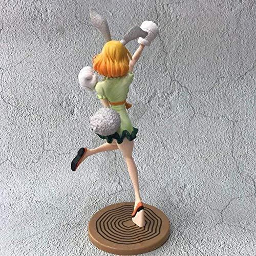 No One Piece Piece Green Skirt Bunny Girl Zanahoria Figura de acción Personaje de Anime Modelo 9.8 Pulgadas