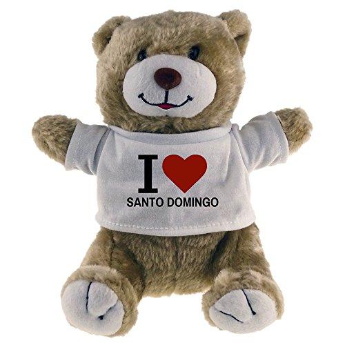 Oso de peluche clásico de Santo Domingo I Love Beige