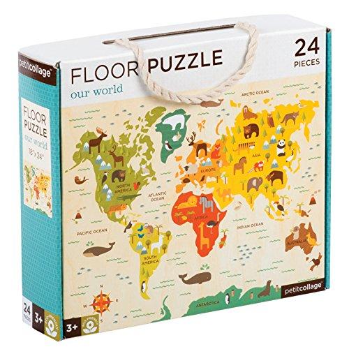 Petit Collage Floor Puzzle - Nuestro mundo
