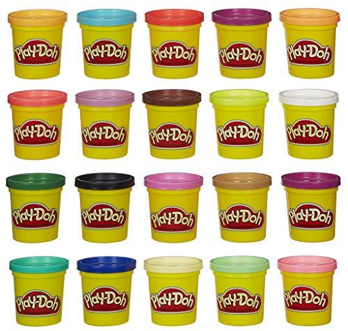 Play-Doh, color surtido, Pack 20 Botes (Hasbro A7924EUC)