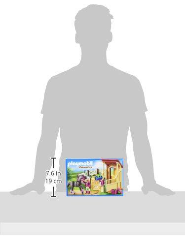 PLAYMOBIL Country Caballo Árabe con Establo, Caballo Negro y detalles Morados, A partir de 5 años (6934) , color/modelo surtido