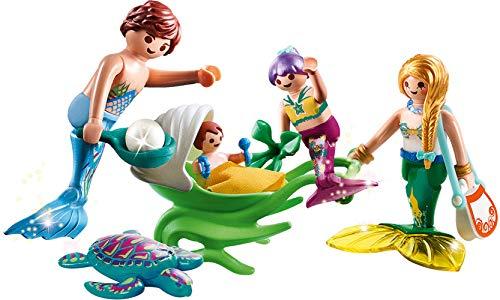 PLAYMOBIL- Magic Familia con Cochecito, Color carbón (70100)