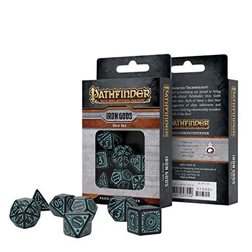 Q Workshop Pathfinder Iron Gods RPG Ornamented Dice Set 7 Polyhedral Pieces