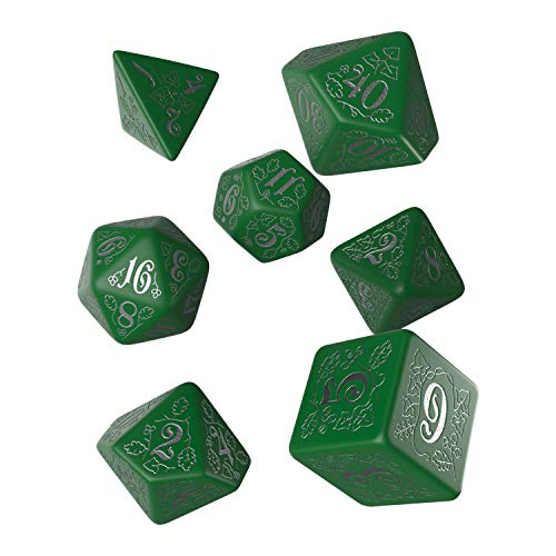 Q Workshop Pathfinder Kingmaker RPG Ornamented Dice Set 7 Polyhedral Pieces