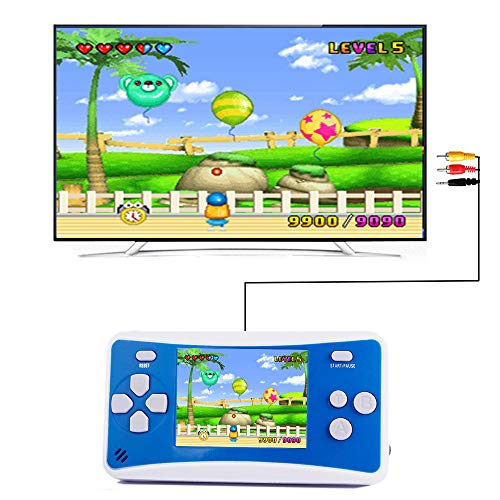 "QINGSHE SHANGPIN 2.5"" LCD 8-bit Retro 152x Video Games Portable Handheld Console - Blue+White"