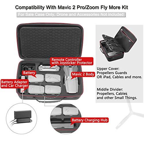 RLSOCO Funda de Transporte para el dji Mavic 2 Pro/Mavic 2 Zoom: Apto para Mavic 2 Accesorios : Control Remoto, 5 x Pilas, Cargador de Batería, Cargador, Tabletas y más (Puede Poner Bloqueo TSA)