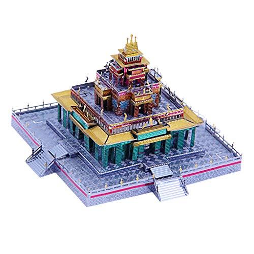 Sharplace 105 Piezas 3D Metal Puzzle Kits de Construcción de Templo Budista Tibetano / DIY Craft Juguetes Educativos Coleccionables