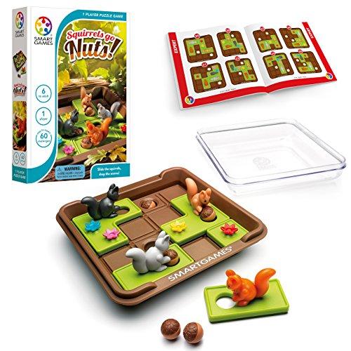 SmartGames Squirrels Go Nuts Child Niño/niña - Juegos educativos (Multicolor, Child, Niño/niña, 6 año(s), 60 Pieza(s), 170 mm)