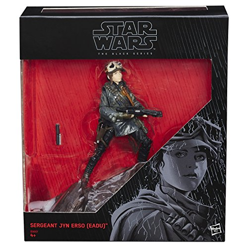Star Wars: Rogue One The Black Series Jyn ERSO (Eadu) con Base