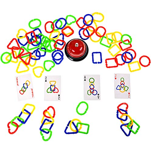 StyleBest Linkets Juguete de Actividad sensorial, Entrelazado Anillo de Cierre Juego de Anillos Juego de Rompecabezas Juego de Pensamiento lógico Formas de Color Cognición Juguete