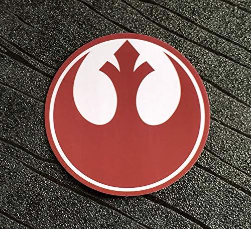 Super6props - Pegatinas de la Alianza Rebelde de Star Wars, Impermeables y Resistentes a los Rayos UV, Paquete de 4 Unidades (75 mm)