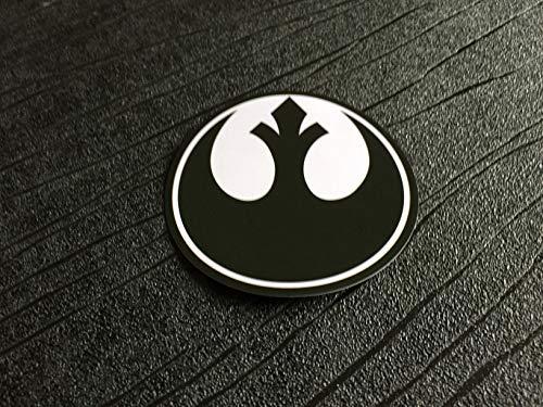 Super6props Star Wars - Adhesivo de PVC impermeable y resistente a los rayos UV, color negro (75 mm)