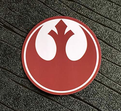 Super6props Star Wars - Pegatinas de PVC resistentes al agua y a los rayos UV, paquete de 7 (75 mm)