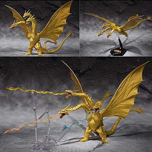 toy Godzilla: Rey De Los Monstruos Dragón De Tres Cabezas Dios De Los Monstruos De Godzilla Dinosaurios De Cadillac Modelos De Personajes Animados Juguetes para Niños