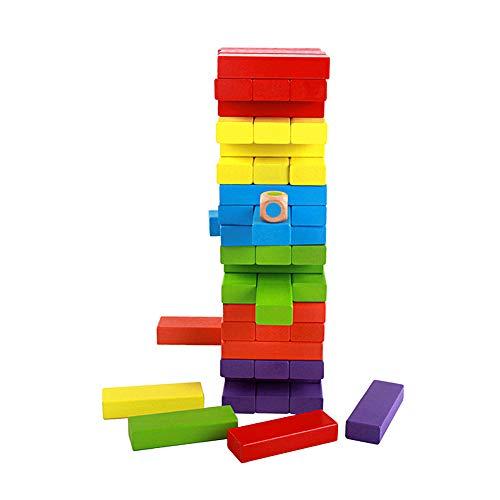 TXDIRECT Jenga Madera Jenga Gigante Equilibrio Juego Jenga para niños Jenga Gigante para Adultos Jenga para Adultos Bloques de Gigante Jenga Juego 48pcs