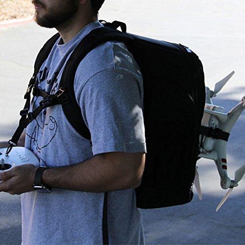 USA Gear Mochila para Drone dji Phantom, Mavic Pro, Spark, Yuneec Breeze, Quadcopters RC y más - Resistente al Agua y a Impactos, Interior Personalizable, Protección Acolchada