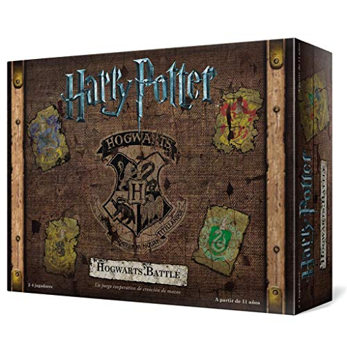 Usaopoly- Harry Potter Hogwarts Battle - Español, Multicolor, Talla Única (USHB01ES)