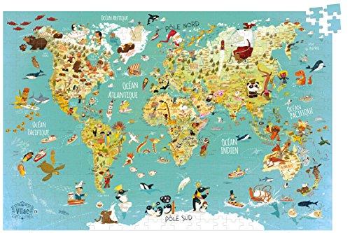 Vilac - Puzzle Mapa del Mudo Fantástico (2722)