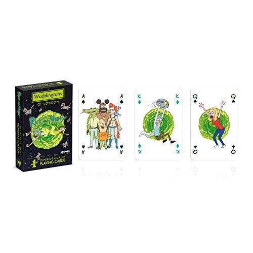 Waddingtons Playing Cards Rick and Morty-Juego de Cartas, Color (Winning Moves WM00039-EN1-12)