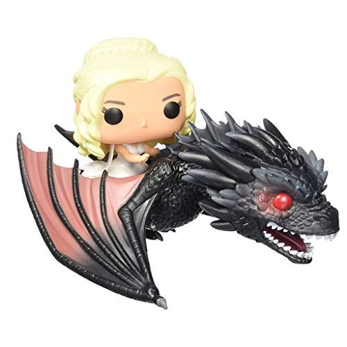 WRZHL Juego de Tronos - Madre de dragón Figura de acción de Daenerys Targaryen Rides Dragón Exquisita Modelado Got Favorito de los fanáticos de 9 Pulgadas Products Around Action