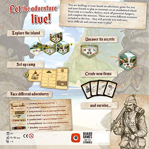 Wydawnictwo Portal POP00361 Robinson Crusoe: Adventures on The Cursed Island - Juego de Mesa